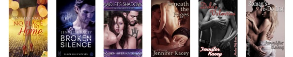 Jennifer Kacey standalone book covers banner