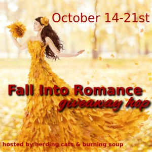 Fall into romance blog hop graphic