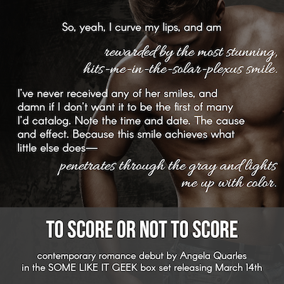 Pullquote, To Score Or Not to Score by Angela Quarles