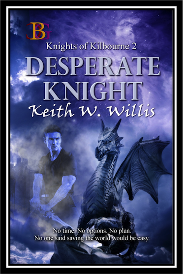 Book cover, Desperate Knight, by Keith Willis