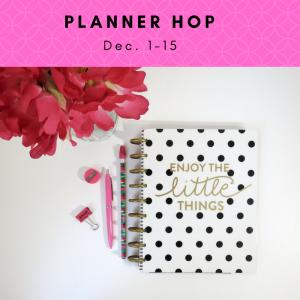 2017 Planner Hop, December 1 to 15