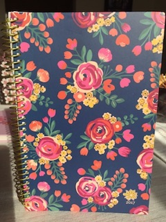 photo of the Vintage Floral journal prezzie for giveaway - US residents only