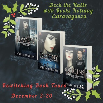 Tranquilli Bloodline series  by Celia Breslin December 2019 tour banner