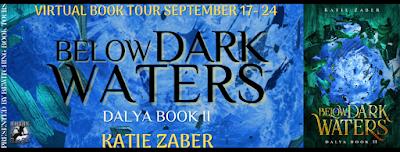 Below Dark Waters by Katie Zaber Tour Graphic