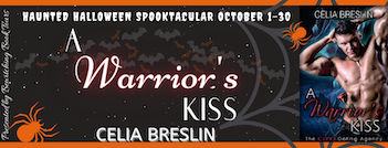 A Warrior's Kiss by Celia Breslin October 2020 tour banner