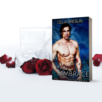A Demon's Embrace Book cover with Roses