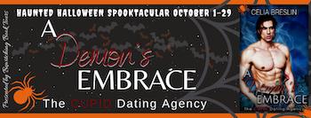 A Demon's Embrace by Celia Breslin October 2021 tour banner