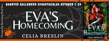EVA'S HOMECOMING by Celia Breslin October 2021 tour banner